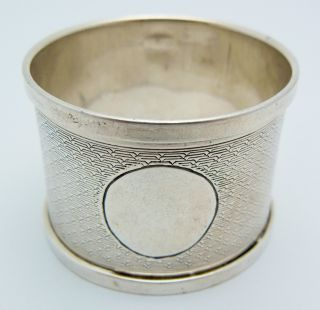 English Sterling Silver Napkin Ring 1931 No Monogram Henry Griffith & Sons photo