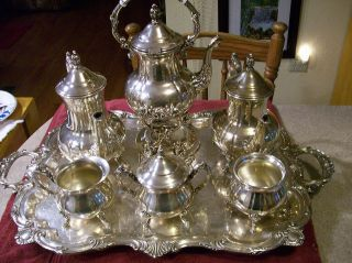 7 - Pc.  Gorgeous Towle Silverplate Coffee And Tea Set photo