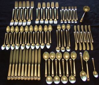 1847 Rogers Bros 89 Pc.  ' Eternally Yours ' Silverplate Flatware Set photo