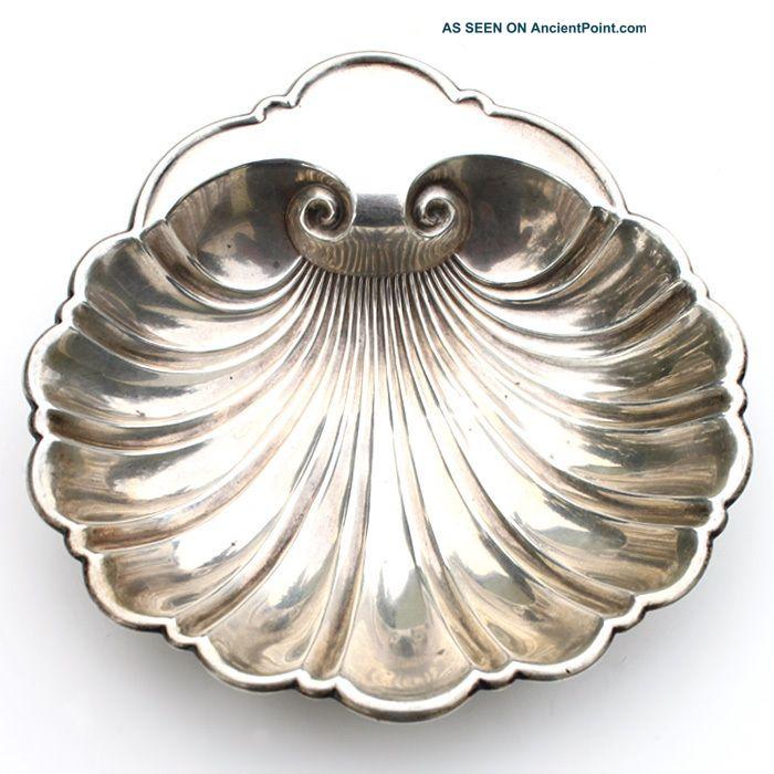 Vintage / Antique Gorham Sterling Silver Shell Bowl Candy / Bon Bon / Nut 445 Bowls photo