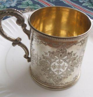 Antique Solid Silver Mug/tankard photo