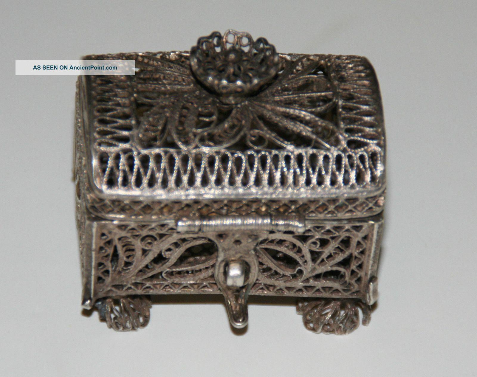 Antique Art Nouveau Russian Silver 84 Trinket Box Viktor Savinsky Moscow Russia photo