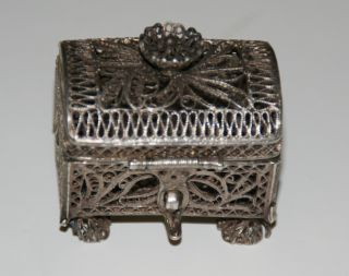 Antique Art Nouveau Russian Silver 84 Trinket Box Viktor Savinsky Moscow photo