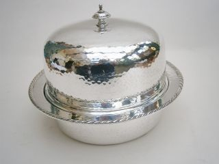 Arts & Crafts Style Silver Plated Muffin Dish photo