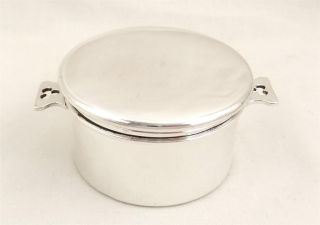 Antique Hallmarked Sterling Silver Vanity Pot/ Pill Box - 1928 photo
