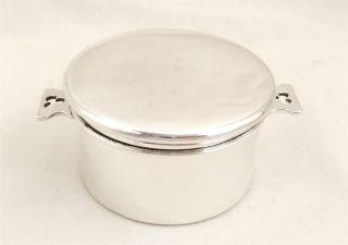 Antique Hallmarked Sterling Silver Vanity Pot/ Pill Box - 1928 photo