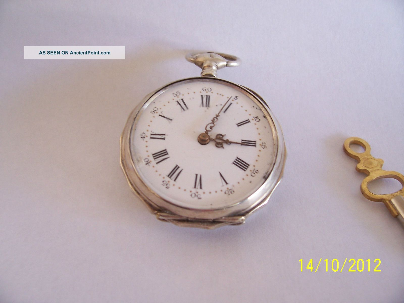 French Silver 8 Jewel Cylinder Key Wind 1890/1900sspocket Watch Pocket Watches/ Chains/ Fobs photo