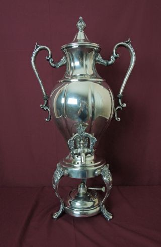 Exquisite X Large 1940's Sheridan Silver Plated Samovar 18 Cups photo