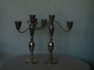 Pr.  Of Duchin Sterling Candelabra/candlesticks photo