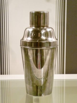 Fine Quality 1920s Art Deco Carl Hallberg (cgh) Silver Plated Cocktail Shaker photo