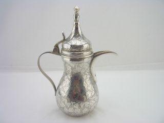 Stunning Iranian Silver Coffee Pot 12oz - 925 Standard - Foliage Engraving photo