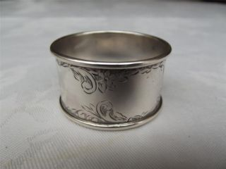 (24a) Good Hm Silver Napkin Ring - Chester 1921 - Sterling - J & R Griffin photo