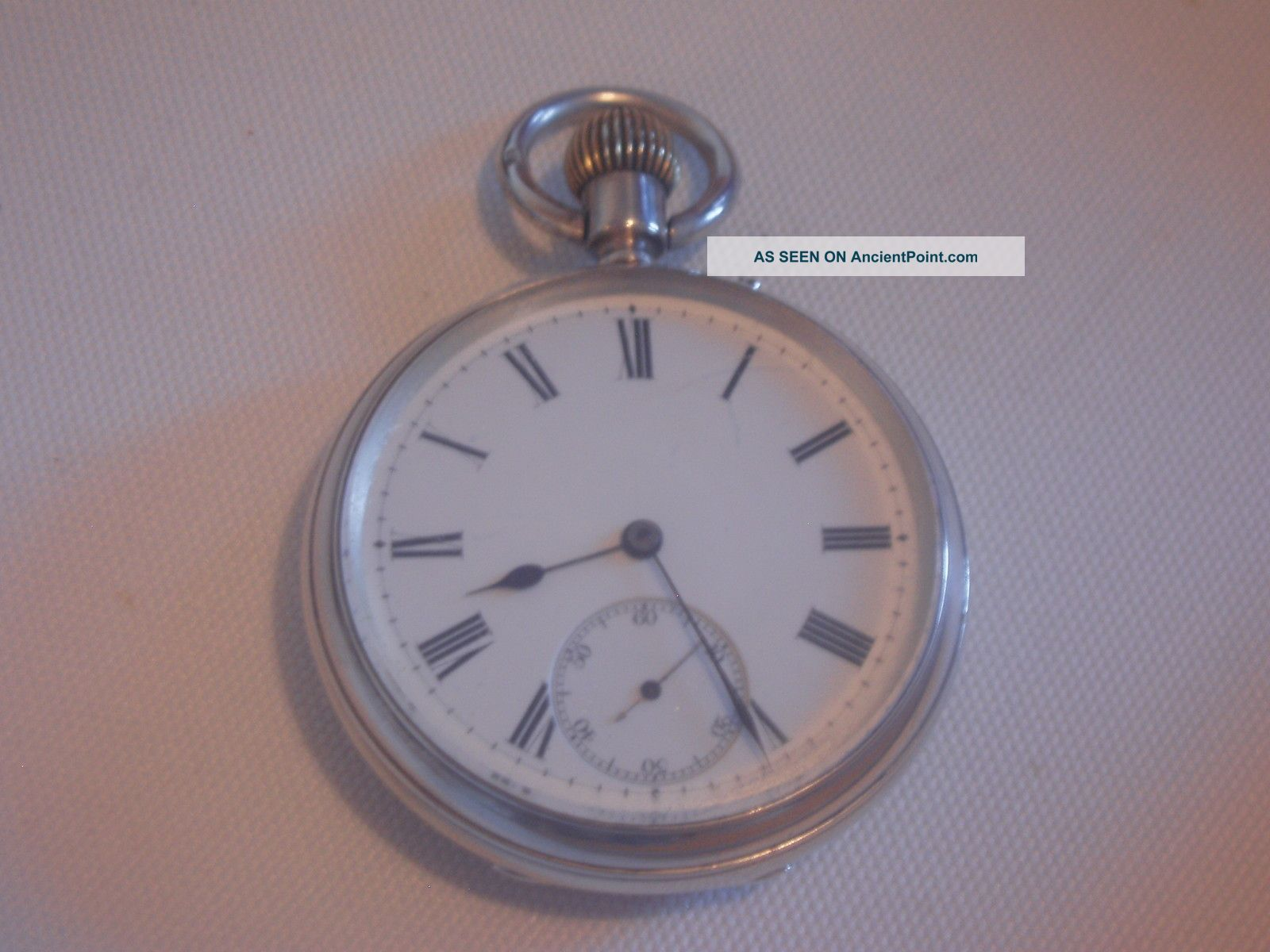 Antique Solid Silver,  Pocket Watch.  Perfect Working Order. Pocket Watches/ Chains/ Fobs photo