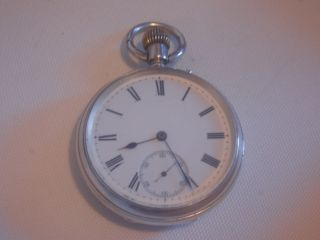 Antique Solid Silver,  Pocket Watch.  Perfect Working Order. photo