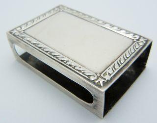 Webster Sterling Silver Match Box Holder Case photo