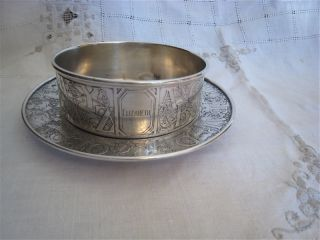Sterling Silver Black Starr & Frost Child ' S Bowl And Plate,  1938 photo
