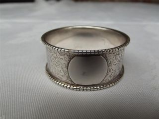 (21a) Good Victorian Hm Silver Napkin Ring - Birm 1890 - Sterling photo