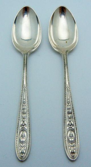 2 - International Sterling Silver Demitasse Spoons Wedgwood photo