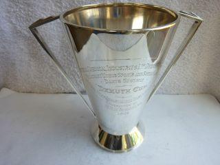 Art Deco Solid Silver Trophy / Presentation Cup - Elkington & Co1936 photo