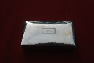 Sterling Trinket Box With Wooden Interior - Tiffany photo