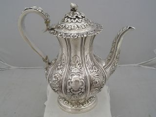 Fabulous 1835 Silver William Iv Quality Coffee Pot 997g photo
