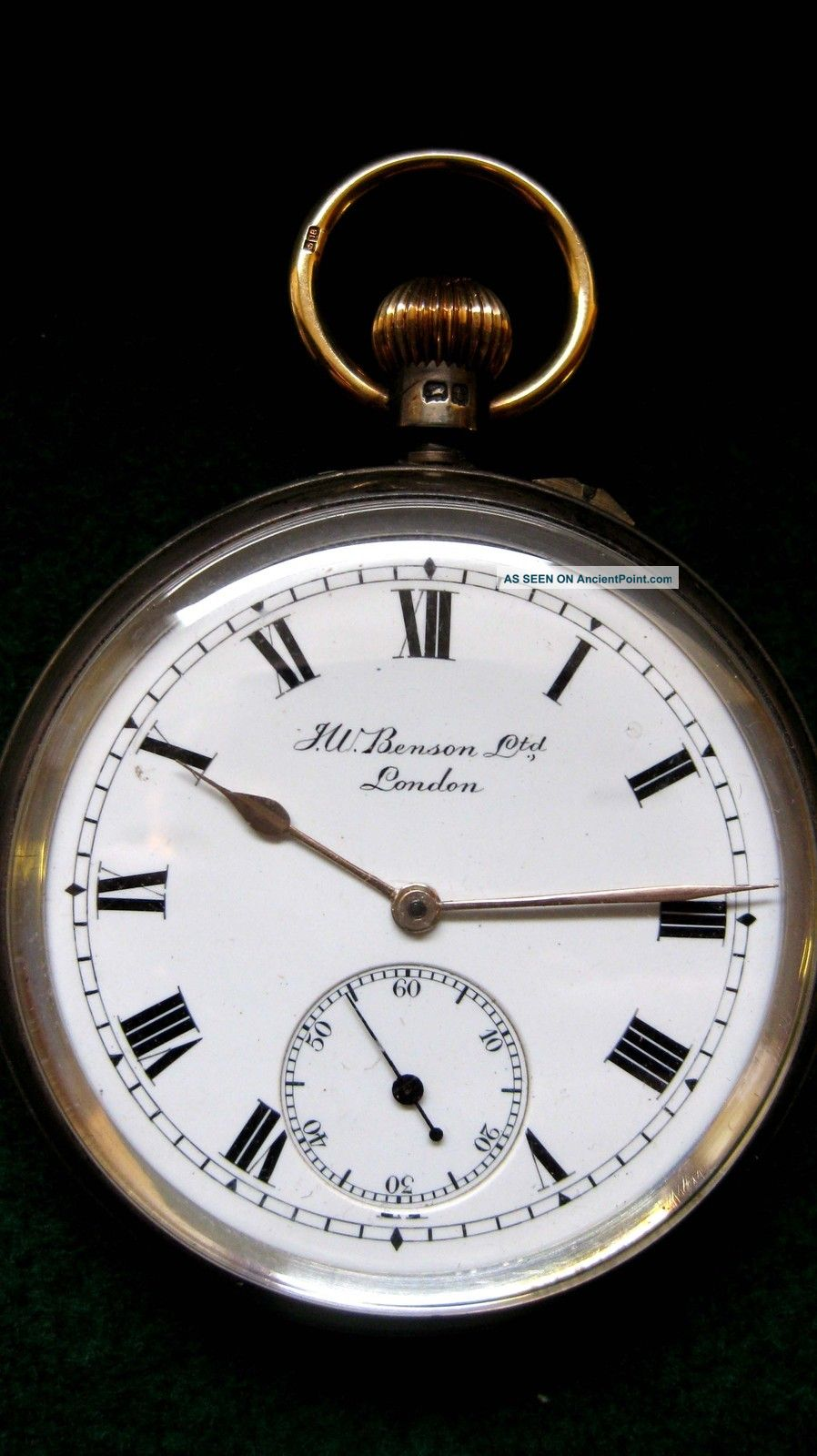 Solid Silver Pocket Watch - - J.  W.  Benson Ltd.  Of London.  Hallmarked: - London 1919 Pocket Watches/ Chains/ Fobs photo