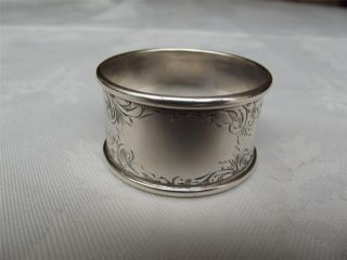 (23a) Good Hm Silver Napkin Ring - Chester 1921 - Sterling - J & R Griffin photo