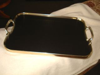 Silver Plated / Bakelite Twin Handled Tray photo