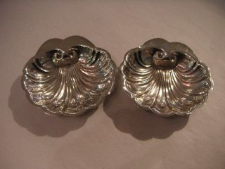 Pair Of Sterling Silver Shell Shape Trinket Dishes photo