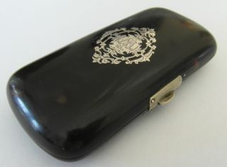 Lovely Victorian Antique Silver Pique Purse Cigarette Or Cigar Case photo