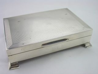 Vintage Silver Cigarette Box - Birmingham 1959 - Turner & Simpson photo