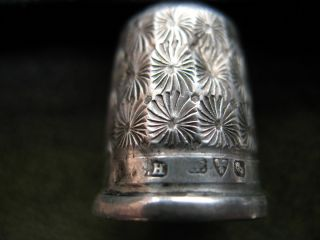 Thimble Solid Silver,  Chester,  Makers Mark C.  H. photo