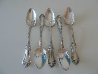 5 Rockford American Beauty Rose Grapefruit Spoons 1909 photo