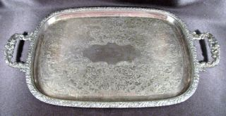 Elegant Heavy Handled Onieda Community Henley Silverplate Serving Tray Exc Cond photo