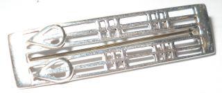 Solid Silver Hallmarked Brooch,  Made By Cjl - H06 photo