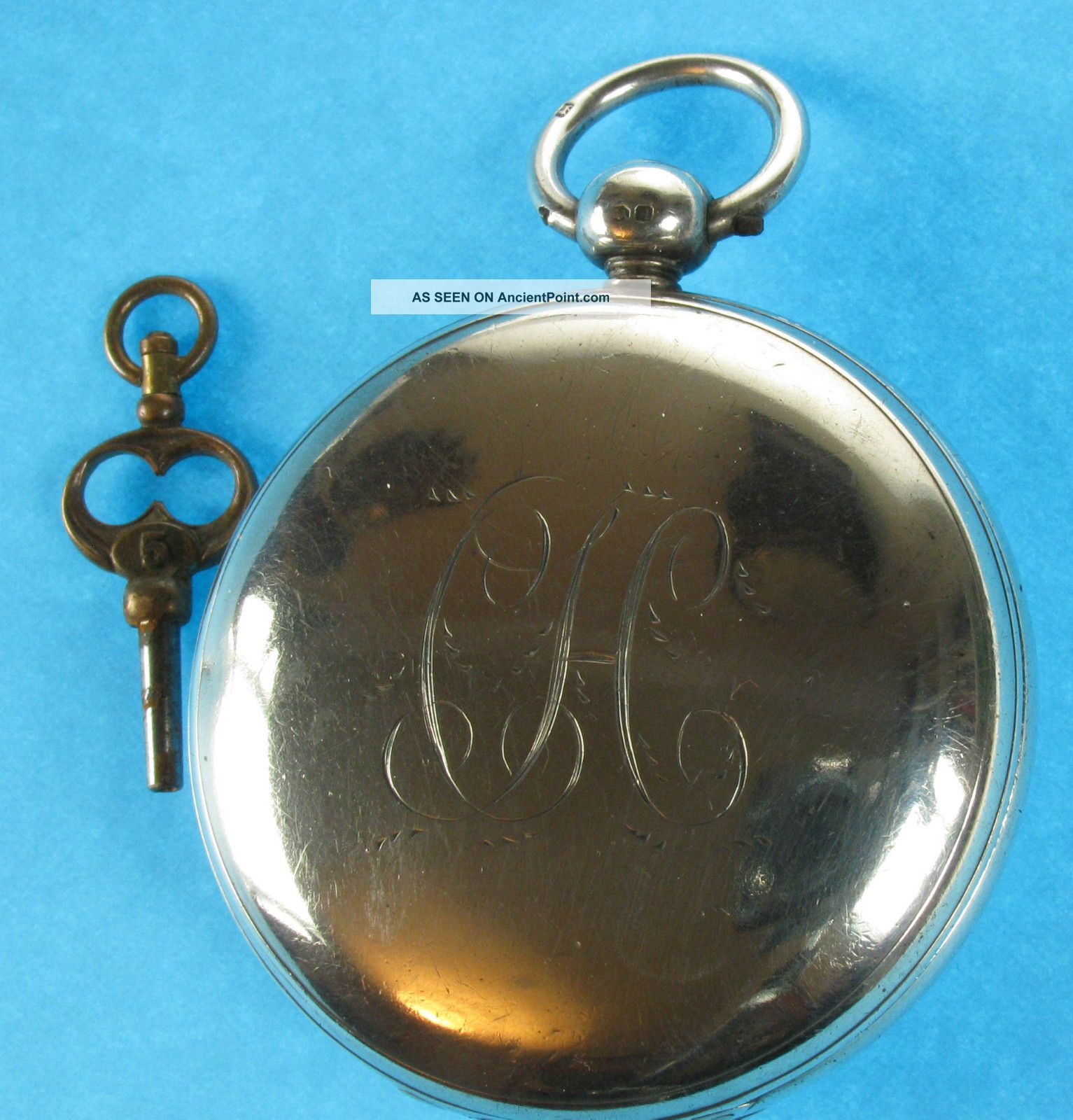 Antique English Full Hunter Silver Pocket Watch C1828 Pocket Watches/ Chains/ Fobs photo