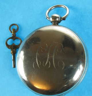 Antique English Full Hunter Silver Pocket Watch C1828 photo
