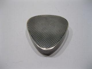 Old Art Deco Sterling Silver Checkerboard Niello Enamel Pill / Snuff Box photo