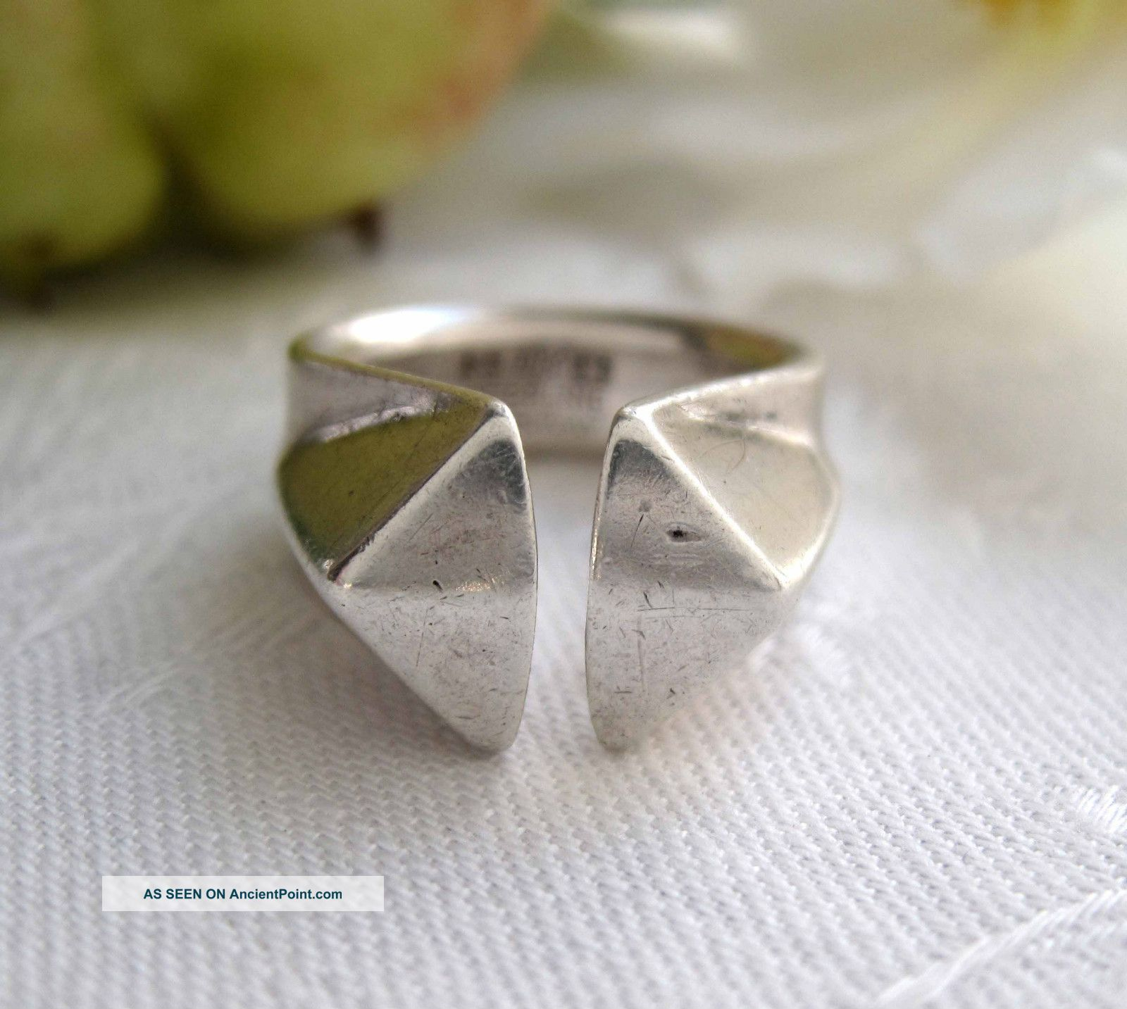 Anna Greta Eker,  Norway,  Vintage Silver Prism,  Prisme Ring,  1964,  12.  7 G Uncategorized photo