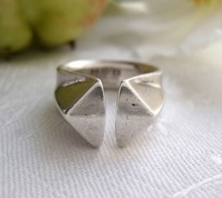 Anna Greta Eker,  Norway,  Vintage Silver Prism,  Prisme Ring,  1964,  12.  7 G photo