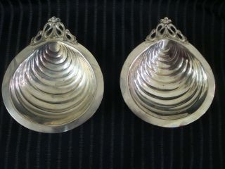 Two Lovely Art Nouveau Serving Dishes Scallops photo
