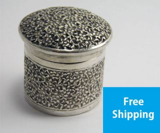 Good Antique Late 19th Century Indian Silver Box & Cover photo