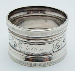 Sterling Silver Round Napkin Ring Elton photo