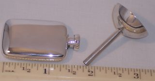 Vintage Sterling Silver Tiffany Miniature Perfume Scent Bottle Funnel Box Travel photo