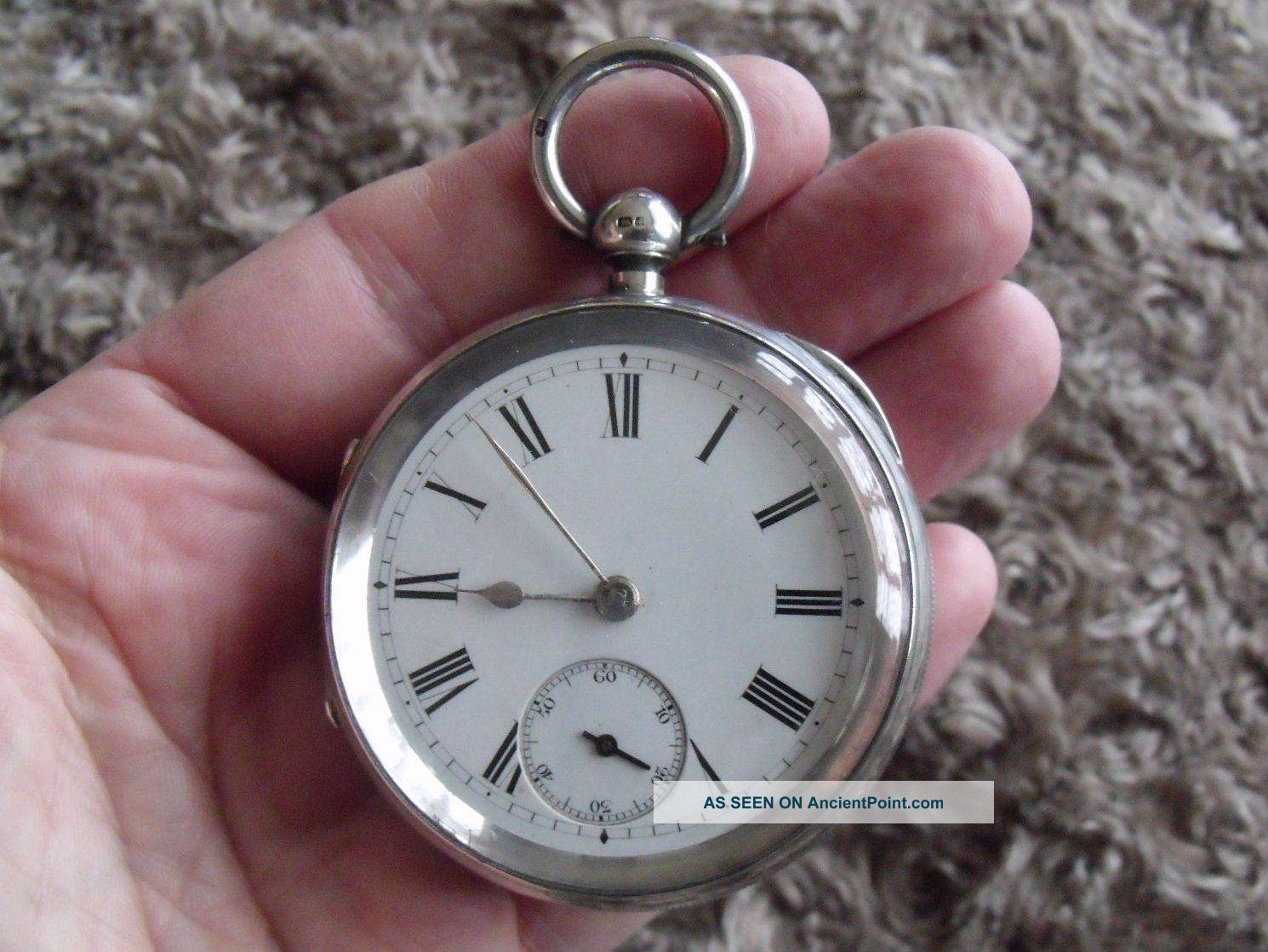 Huge Silver Fusee Pocket Watch ' Thos Smith,  London,  No114 ' - 1890/1 Pocket Watches/ Chains/ Fobs photo