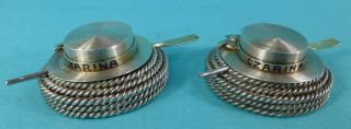 Rare Sterling Silver Gilt Enamel Salts Boaters Hats Ship Czarina Rope Oars 1876 photo