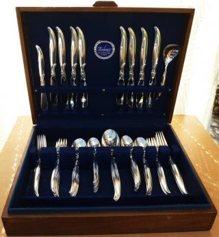 1847 Rogers Silverplate Flatware Set,  Flair,  1956, photo