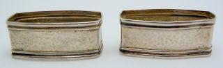 2 - Webster Sterling Silver Hammered Napkin Rings photo