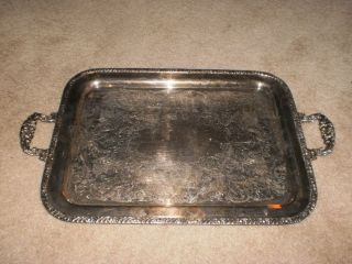 Large/heavy Silver Plated Serving Tray Henley Community photo