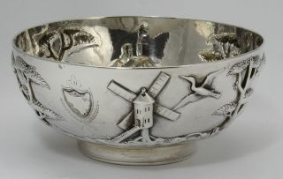 Hand - Raised Dublin Sterling Bowl C1749 9 Ozt photo